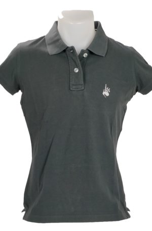 Polo Femme Vintage Charcoal