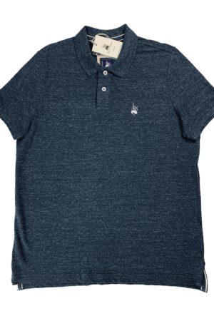 Polo Homme Vintage Bleu Grisé (Nouveau)